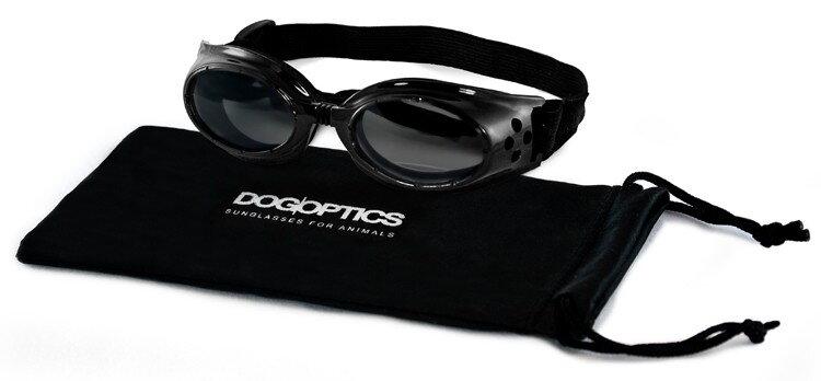 2eef4b4e7 Ochranné slnečné okuliare Dogoptics Ibiza čierne so zrkadlovými sklami